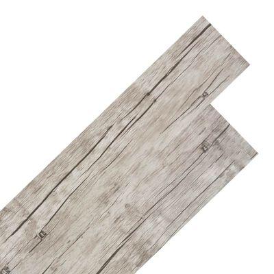vidaXL Samoprzylepne panele podłogowe PVC 5,02 m², 2 mm, spłowiały dąb