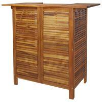 vidaXL Stolik barowy, 110 x 50 x 105 cm, lite drewno akacjowe