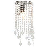 vidaXL Lampa ścienna z kryształkami i koralikami, srebrna, E14
