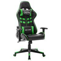 vidaXL Fotel dla gracza, czarno-zielony, sztuczna skóra