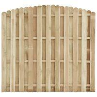 vidaXL Panel ogrodzeniowy, impregnowana sosna, 180 x (155-170) cm