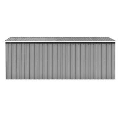 vidaXL Szopa ogrodowa, 257x489x181 cm, metal, szara