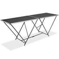 vidaXL Składany stół do tapetowania, MDF i alumnium, 200x60x78 cm