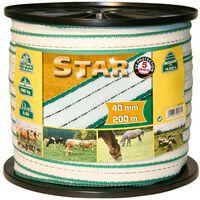 Kerbl Elektryczna taśma ogrodzeniowa Star, PE, 200 m, 40 mm, 441503