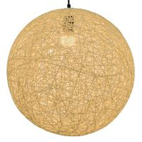vidaXL Lampa wisząca, kremowa, kula, 45 cm, E27