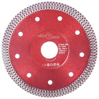 vidaXL Tarcza diamentowa z otworami, stal, 125 mm