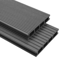 vidaXL Deski tarasowe WPC z akcesoriami, 30 m², 2.2 m, szare
