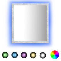 vidaXL Lustro łazienkowe LED, szarość betonu, 40x8,5x37 cm, płyta