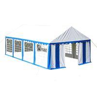vidaXL Namiot imprezowy 4 x 8 m, niebieski