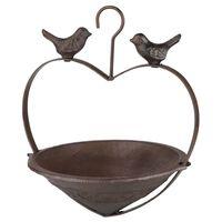 HI Karmnik dla ptaków, w kształcie serca, 22 cm, brązowy
