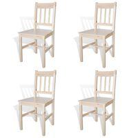 vidaXL Krzesła stołowe, 4 szt., drewno sosnowe