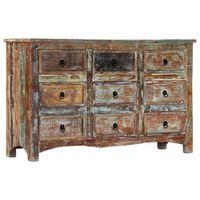 vidaXL Komoda, 130x40x80 cm, lite drewno z odzysku