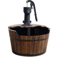 Dodatek do ogrodu drewniana beczka na wodę Ubbink