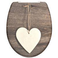 SCHÜTTE Deska sedesowa wolnoopadająca WOOD HEART, duroplast, nadruk