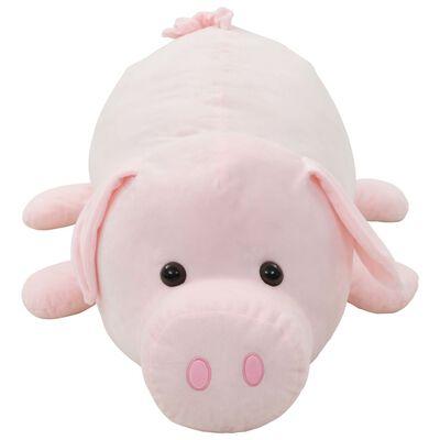 vidaXL Pluszowa świnka przytulanka, różowa