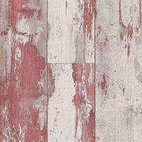 DUTCH WALLCOVERINGS Tapeta z motywem drewna, czerwono-beżowa