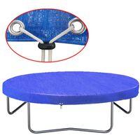 vidaXL Plandeka na trampolinę, PE, 450-457 cm, 90 g/m²