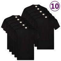 Fruit of the Loom Oryginalne T-shirty, 10 szt., czarne, S, bawełna