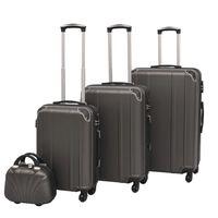 vidaXL Zestaw walizek na kółkach w kolorze antracytowym, 4 szt.