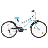 vidaXL Rower dla dzieci, 24 cale, niebiesko-biały