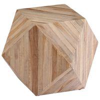 vidaXL Stolik boczny z drewna tekowego z odzysku, 40x40x40 cm