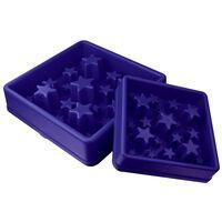 EAT SLOW LE LONGER Miska spowalniająca jedzenie Star, niebieska, S