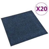 vidaXL Podłogowe płytki dywanowe, 20 szt., 5 m², granatowe