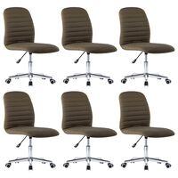 vidaXL Krzesła stołowe, 6 szt., brązowe, tapicerowane tkaniną
