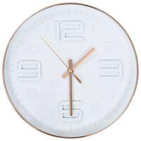 vidaXL Zegar ścienny w kolorze miedzi, 30 cm