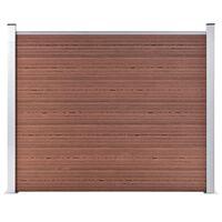 vidaXL Panel ogrodzeniowy z WPC, 180x146 cm, brązowy