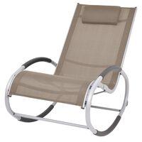 vidaXL Ogrodowy fotel bujany, taupe, textilene