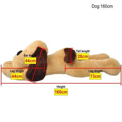 vidaXL Pluszowy piesek przytulanka 160 cm, brązowy