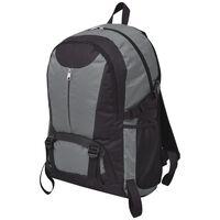 vidaXL Plecak turystyczny 40 L czarny i szary