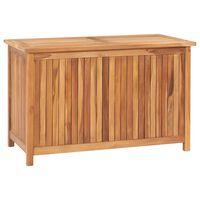 vidaXL Skrzynia ogrodowa, 90x50x58 cm, lite drewno tekowe