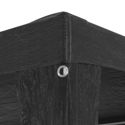 vidaXL Namiot imprezowy, 3 x 9 m, PE, antracytowy