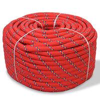 vidaXL Linka żeglarska z polipropylenu, 6 mm, 100 m, czerwona