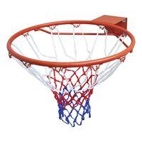 vidaXL Zestaw do koszykówki, obręcz z siatką, pomarańczowy, 45 cm