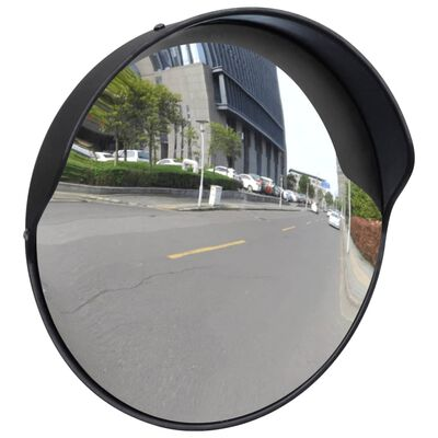 vidaXL Wypukłe lustro drogowe, 30 cm, czarne