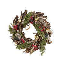 Wianek Świąteczny ⌀ 35 Cm Zielono-czerwony Raate