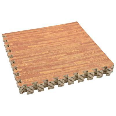 vidaXL Maty podłogowe, 6 szt., wzór drewna, 2,16 ㎡, pianka EVA
