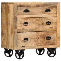vidaXL Komoda na kółkach, 70x40x75 cm, lite drewno mango