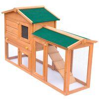 vidaXL Duża klatka dla królików lub małych zwierząt, drewno