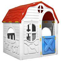 vidaXL Domek dla dzieci z otwieranymi drzwiczkami i oknami