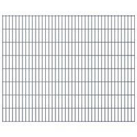 vidaXL Panele ogrodzeniowe 2D, 2,008 x 1,63 m, 20 m, szare