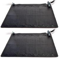 Intex Solarne maty grzewcze, 2 szt., PVC, 1,2x1,2 m, czarne