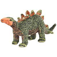 vidaXL Pluszowy stegozaur, stojący, zielono-pomarańczowy, XXL