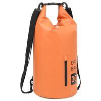 vidaXL Worek wodoszczelny z suwakiem, pomarańczowy, 30 L, PVC