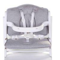 CHILDHOME Uniwersalna poduszka do wysokiego krzesełka, dżersej, szara
