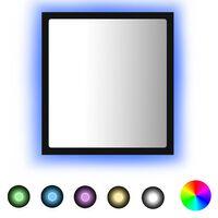 vidaXL Lustro łazienkowe LED, czarne, 40x8,5x37cm, płyta wiórowa