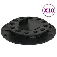 vidaXL Regulowane wsporniki tarasowe, 10 szt., 20-30 mm